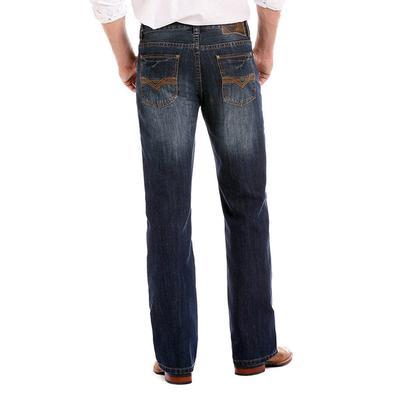 Rock & Roll Denim Men's Dark Vintage Double Barrel Straight Leg Jean