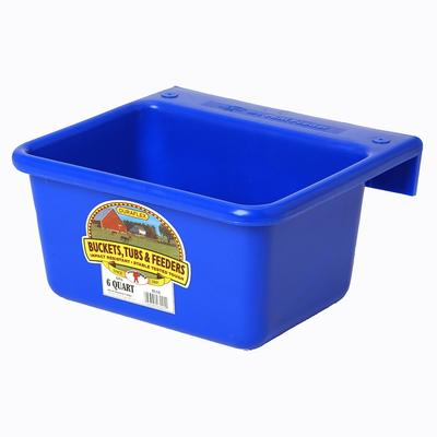 Miller Mfg. Duraflex 6 Quart Plastic Mini Feeder, Blue