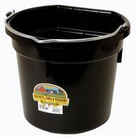 Miller Mfg. Little Giant 20 Qt. Flat Back Bucket, Black