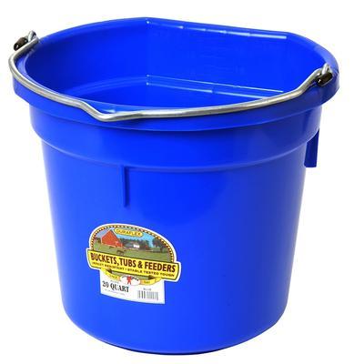 Miller Mfg. Little Giant 20 Qt. Flat Back Bucket, Blue