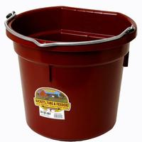 Miller Mfg. Little Giant 20 Qt. Flat Back Bucket, Burgundy