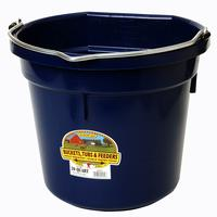 Miller Mfg. Little Giant 20 Qt. Flat Back Bucket, Navy