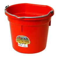 Miller Mfg. Little Giant 20 Qt. Flat Back Bucket, Red