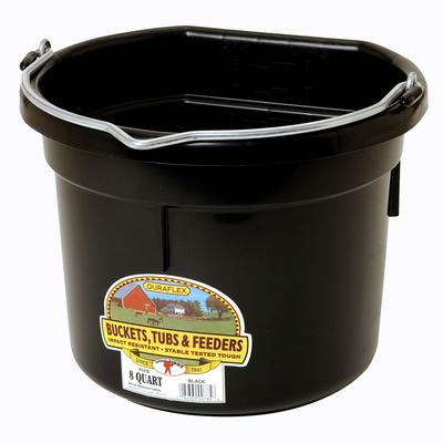 Miller Mfg. Little Giant 8 Qt. Flat Back Bucket, Black