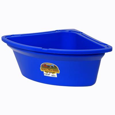 Miller Mfg. Little Giant 26 Quart Corner Feeder, Blue