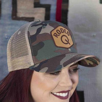 Rodeo Quincy Women's Camo Trucker Q Cap