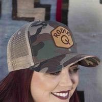 Rodeo Quincy Women's Camo Trucker Q Cap