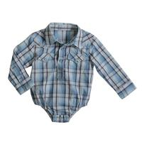 Wrangler Infant's Plaid Western Onesie