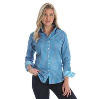 Wrangler Women's Turquoise Polka Dot George Strait Shirt