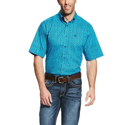 Ariat Men's Perfect Turquoise Gilbert Fitted Shirt
