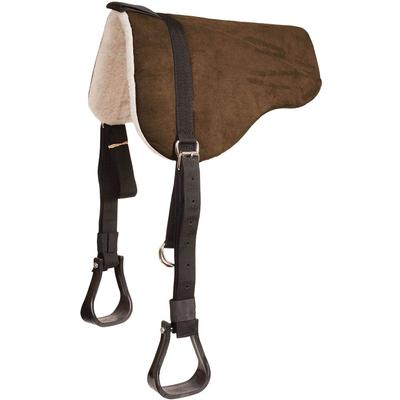 Mustang Mfg. Faux-Suede Bareback Pad With Stirrups