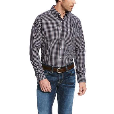 Ariat Men's Wrinkle Free True Navy Kelvin Shirt