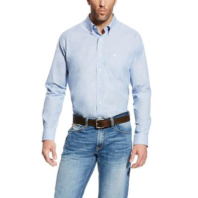 Ariat Men's Wrinkle Free Faded Blue Saga Kenzie Shirt