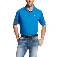 Ariat Men's Mykonos Blue Tek Polo