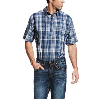 Ariat Men's Blue Pine Plaid Venttek Shirt