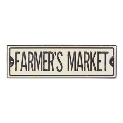 Farmer's Market Metal Street Sign