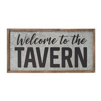 Tavern Galvanized Sign
