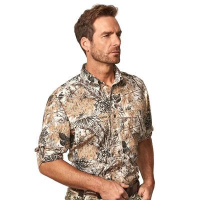 GameGuard Men's MicroFiber Long Sleeve Shirt CAMO
