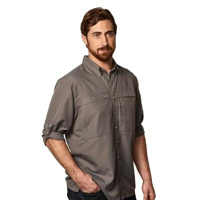 GameGuard Men's MicroFiber Long Sleeve Shirt GUNMETAL