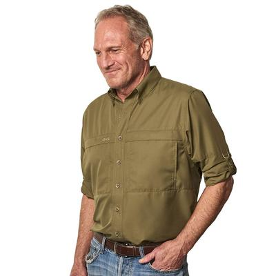 GameGuard Men's MicroFiber Long Sleeve Shirt OLIVE
