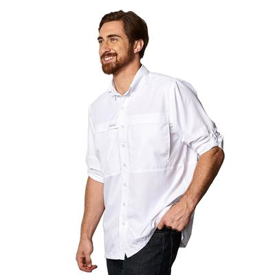 GameGuard Men's MicroFiber Long Sleeve Shirt WHT