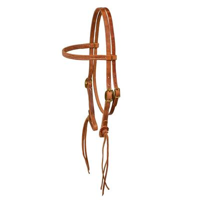 Berlin Custom Leather Rattlesnake Straight Browband Headstall