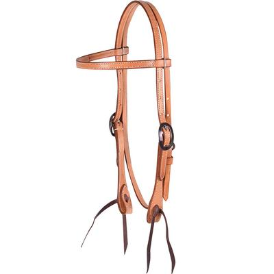 Martin Saddlery Natural Skirting Leather Browband Headstall