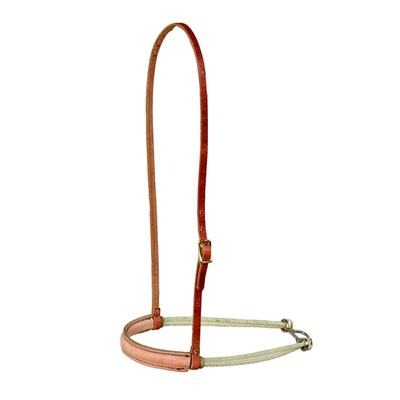 Berlin Custom Leather Double Rope Leather Covered Noseband