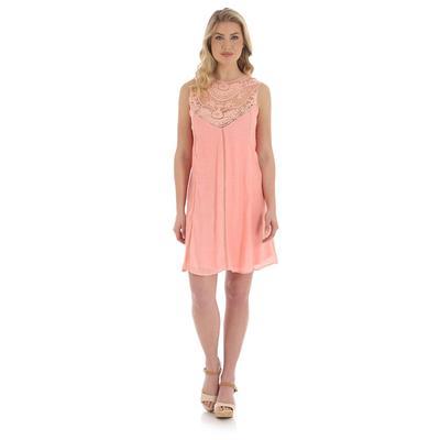 Wrangler Women's Blush Lace Neck Swing Dress
