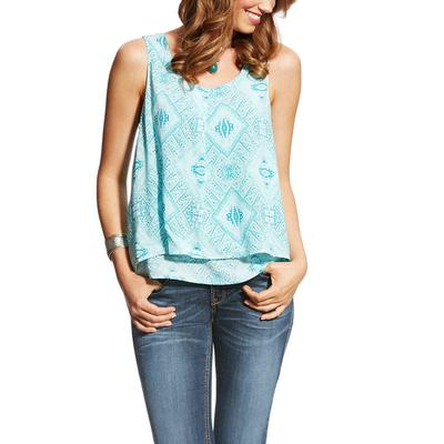 Ariat Women's Print Blue Jojo Tank Top