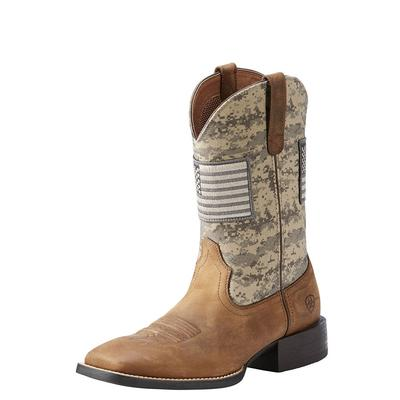 Ariat Men's Distressed Brown Sport Patriot Boots