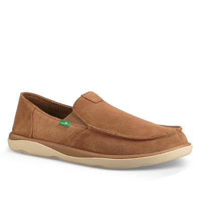 Sanuk Men's Light Brown Vagabond Tripper Suede Shoes