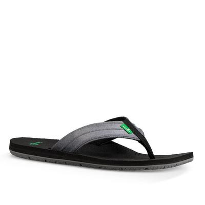 Sanuk Men's Charcol Grey Land Shark Sandals