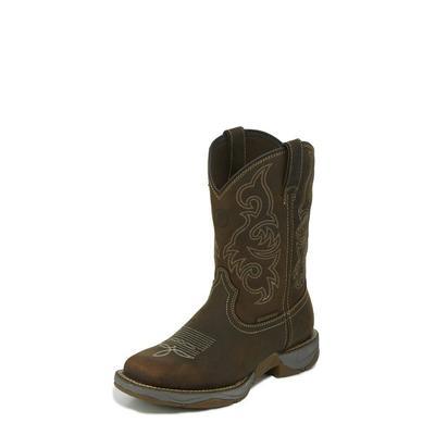 Tony Lama Men's Brown Waterproof Squaretoe Work Boots