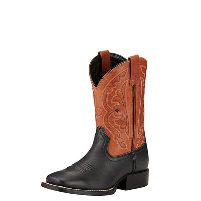 Ariat Boy's Orange and Black Quickdraw Boot