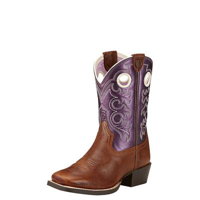 Ariat Girl's Purple And Brown Crossfire Boot