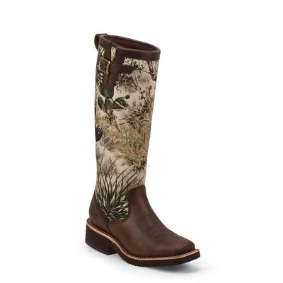 Chippewa Women's 15 Barbary Brown Gameguard Camo Snake Boot
