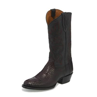 Tony Lama Men's Caprock Black Cherry Teju Lizard Boot
