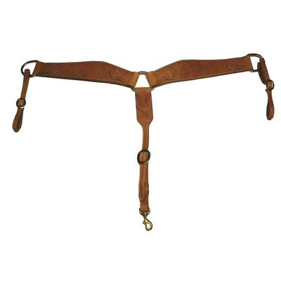 San Saba Equine Shaped Hermann Oak Breast Collar