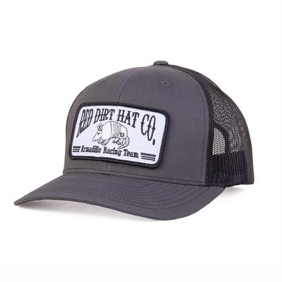 9faa19b5f7900 Red Dirt Hat Co. s Grey and Black Dillo Racing Team Cap