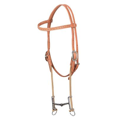 Classic Equine Loomis Gag Bit & Browband Headstall