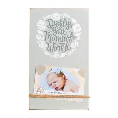 Daddy's Girl Mommy's World Twine Frame