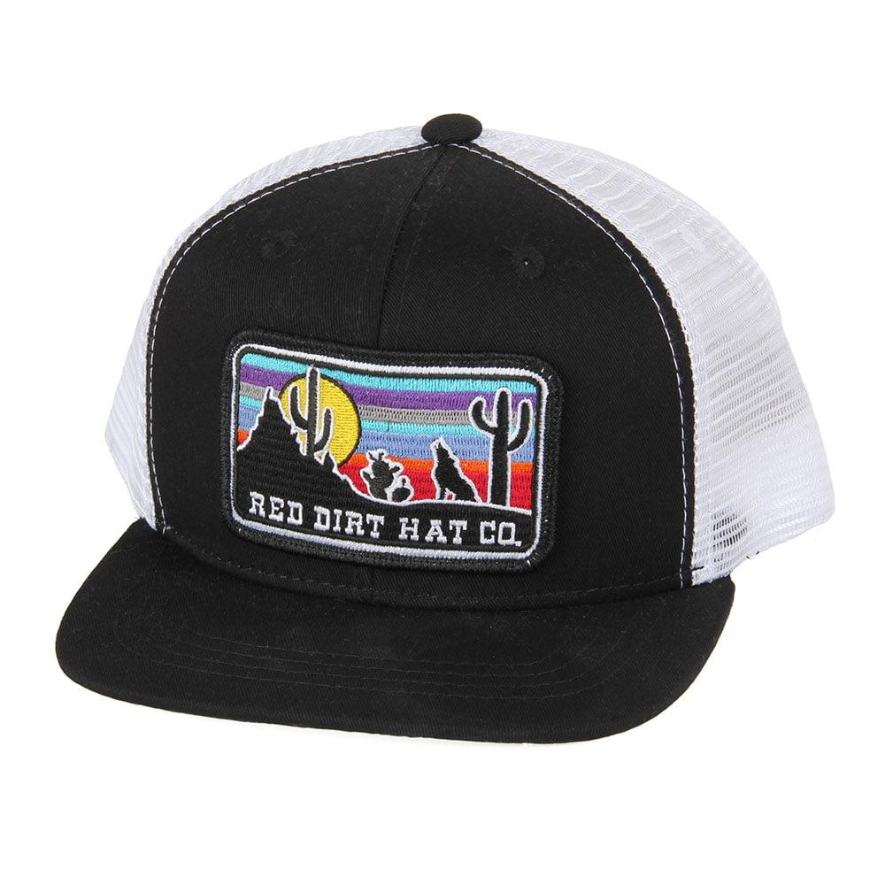 b97a9770 Red Dirt Hat Co.'s Youth Black and White Coyote Cap