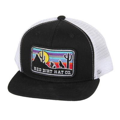 Red Dirt Hat Co.'s Youth Black and White Coyote Cap