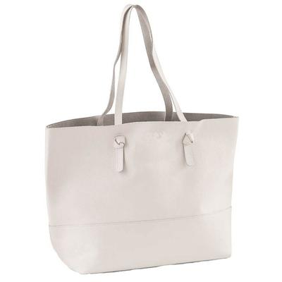 Mud Pie's White Miller Leather Tote