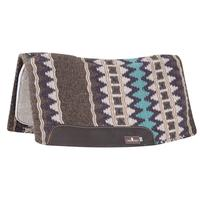 Classic Equine ESP Contour Wool Top Pad Coffee/Purple