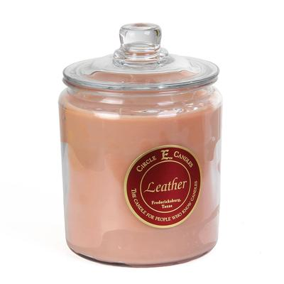 Circle E Cookie Jar Candles LEATHER