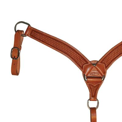 Reinsman Basketweave Contoured Breast Collar
