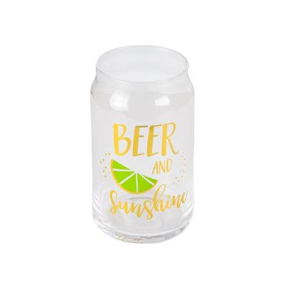 Beer and Sunshine Beer Can Glass