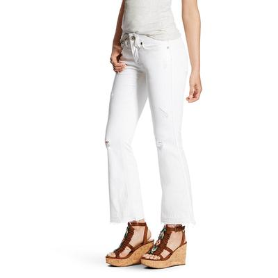 Ariat Women's White Ella Cropped Straight Leg Jeans